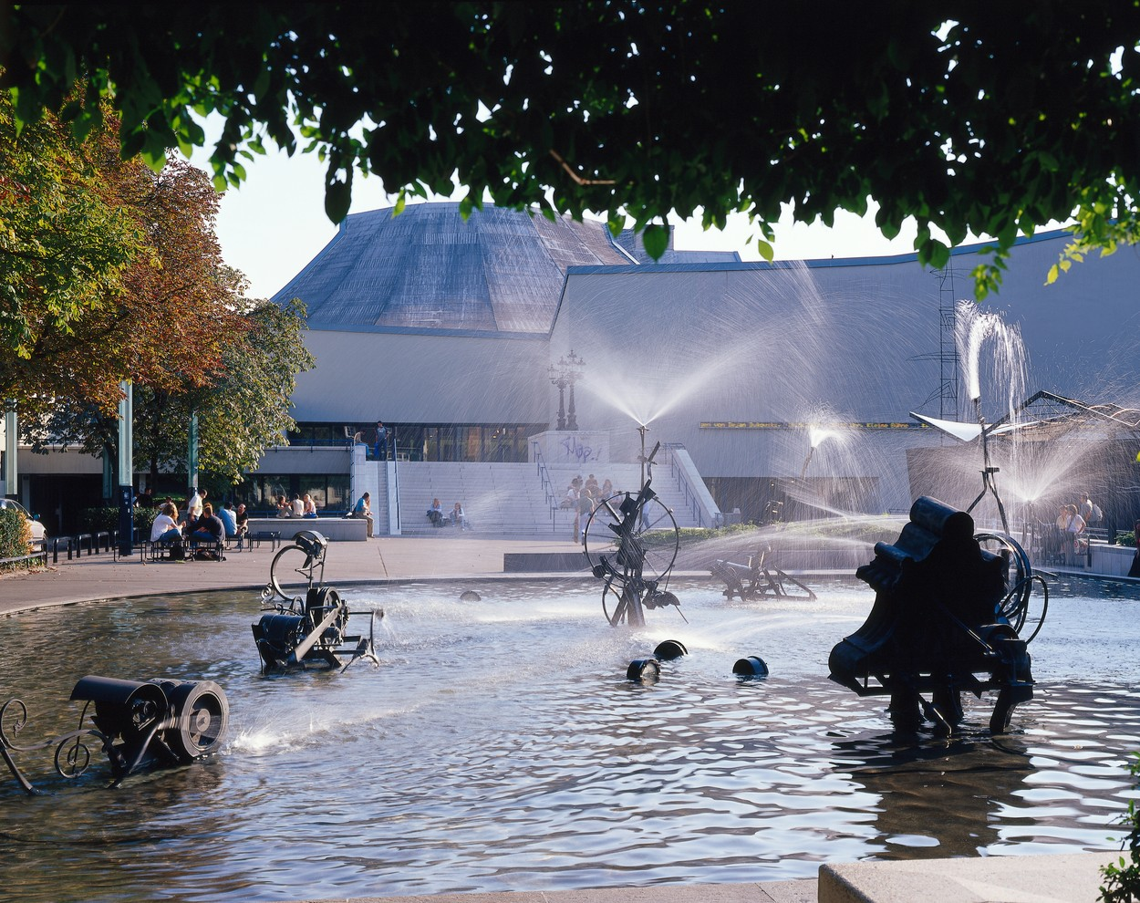 Carnival Fountain at Theatre Square, Basel, Canton of Basel-City, Switzerland