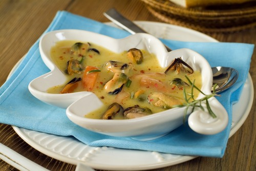 Spanish Soup with Mussels