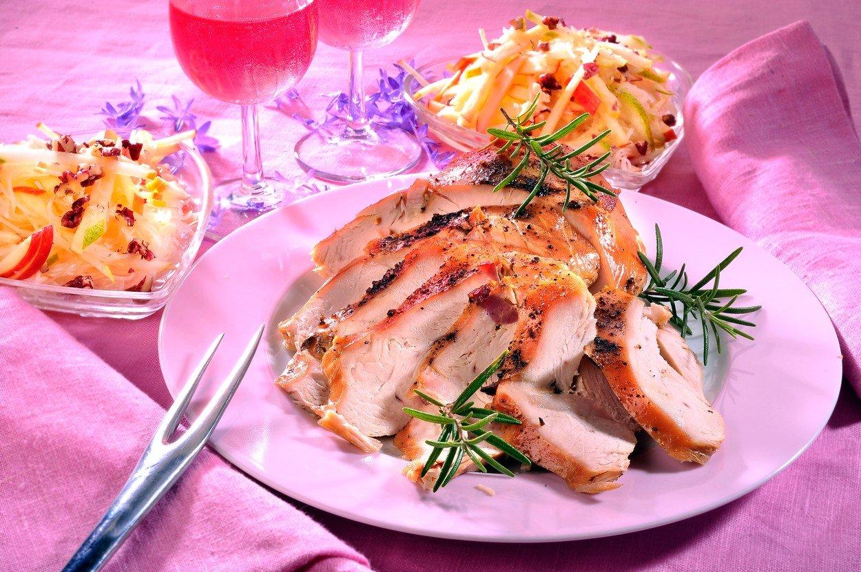 Turkey Breasts with Celery Salad