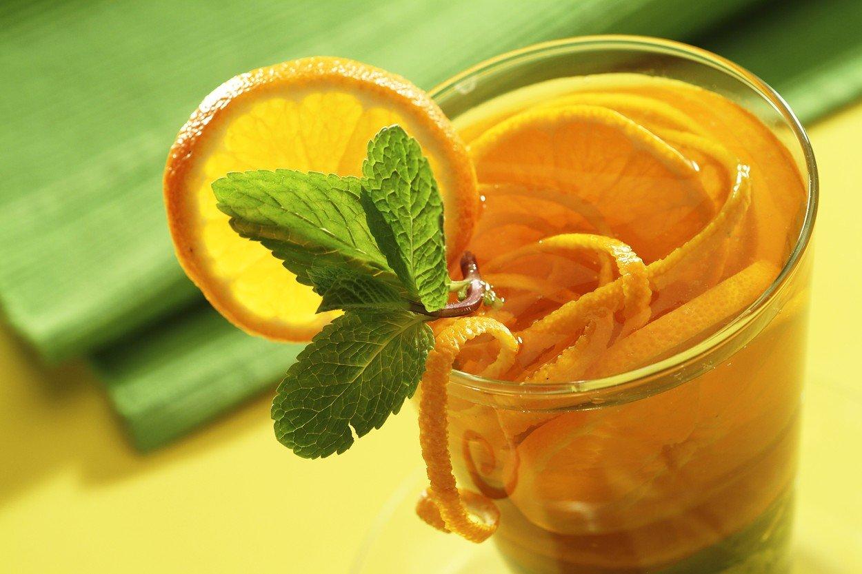 Mint Tea with Mandarins Juice