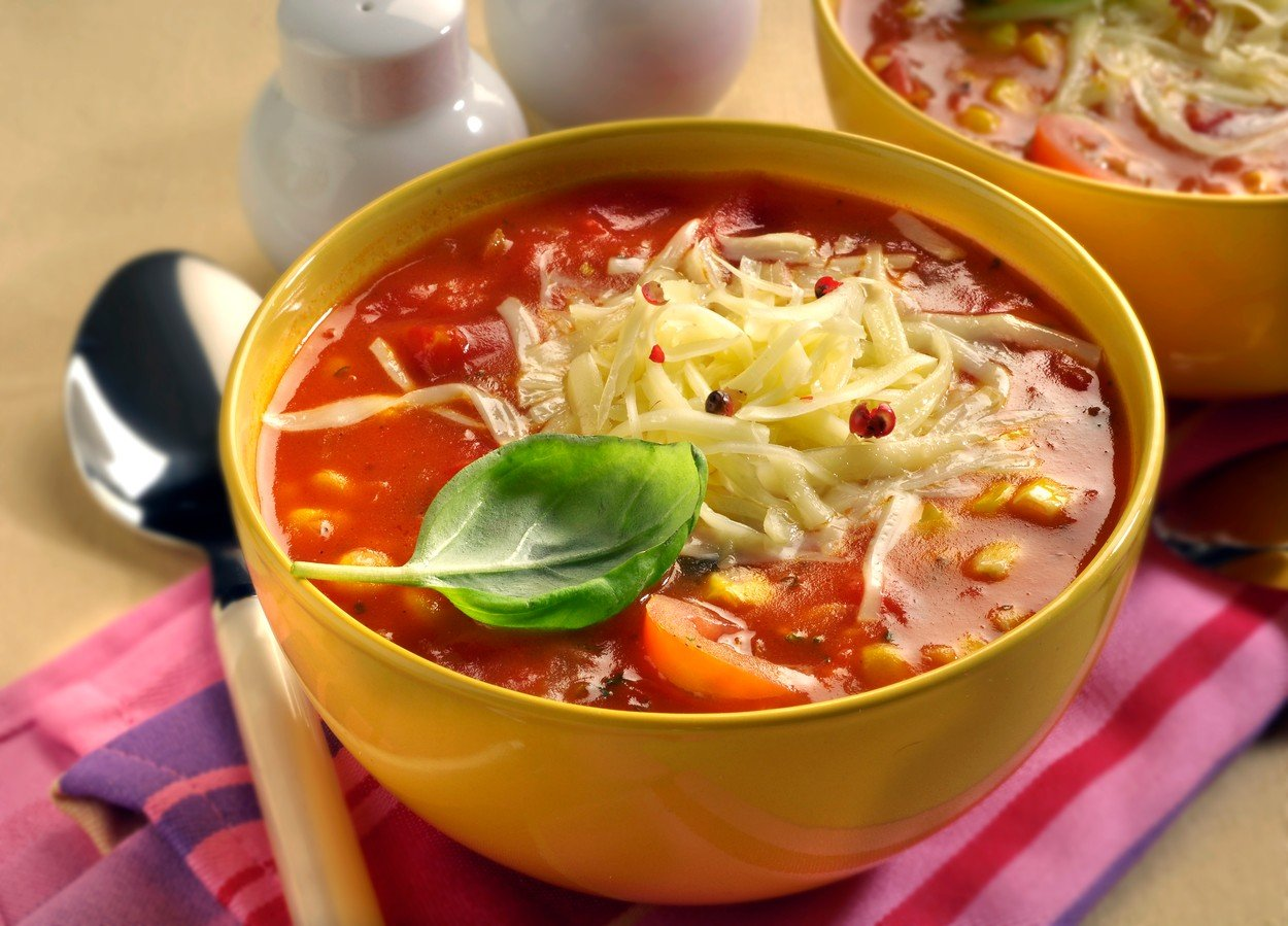 Soup with Corn and Tomatoes