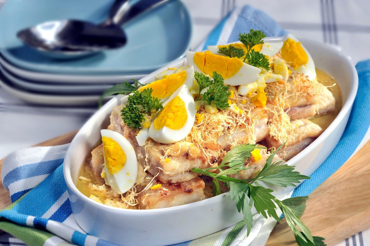 Fish Baked with Celery and Horseradish