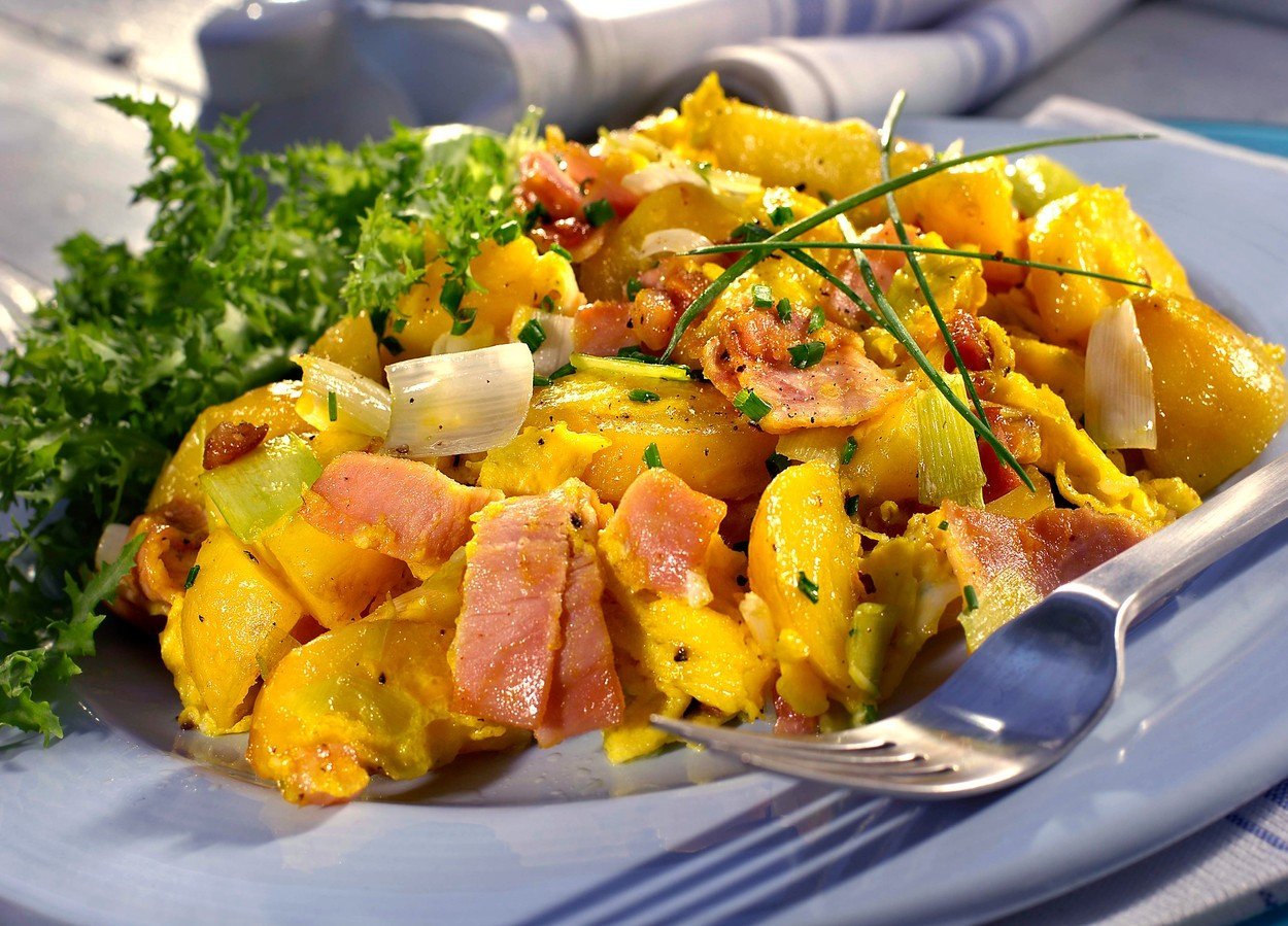Potatoes with Eggs and Ham