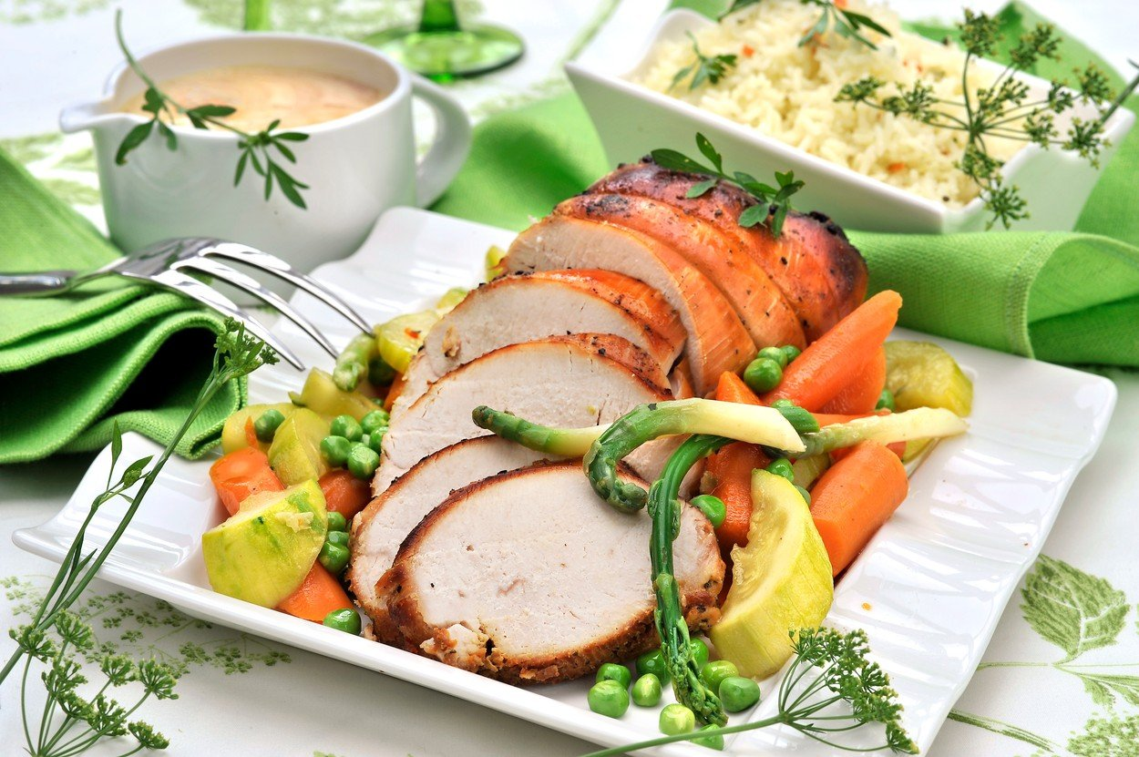 Turkey Breasts with Vegetable