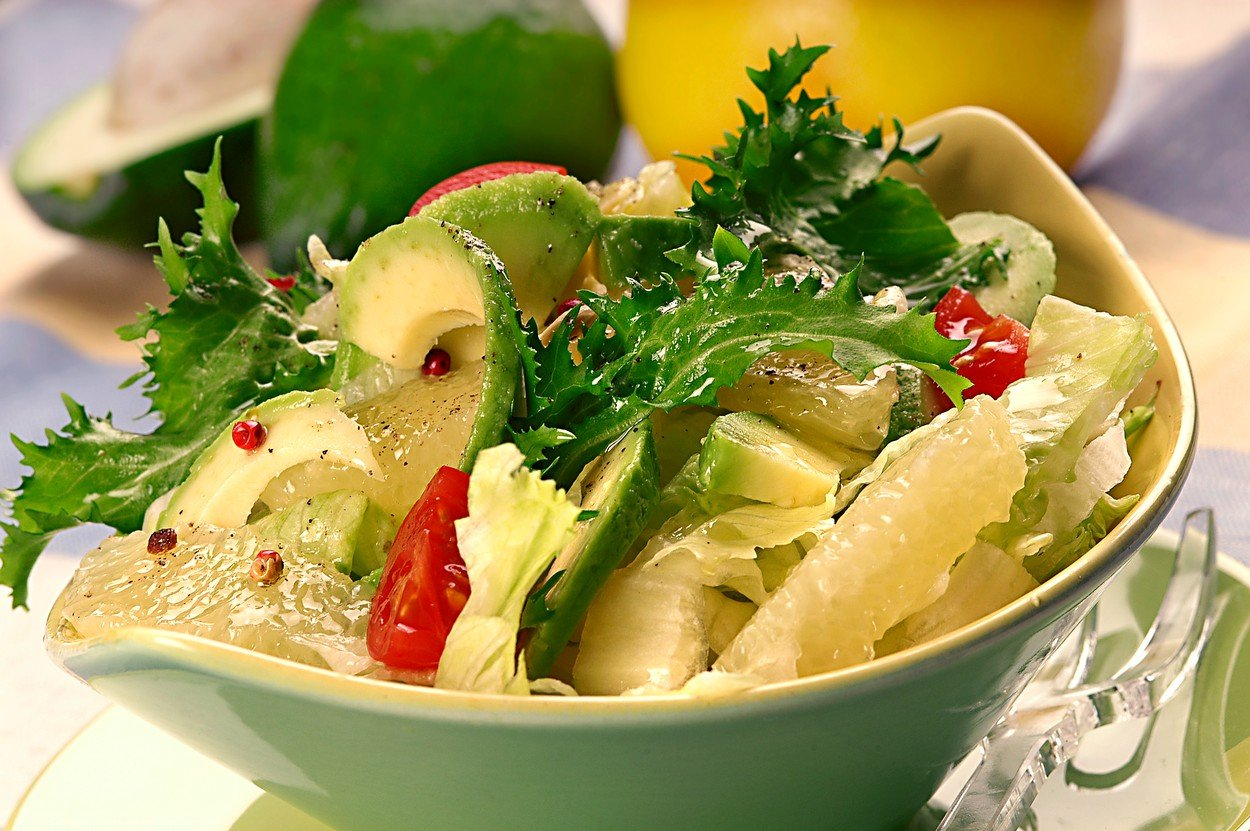 Salad with Grapefruit and Avocado
