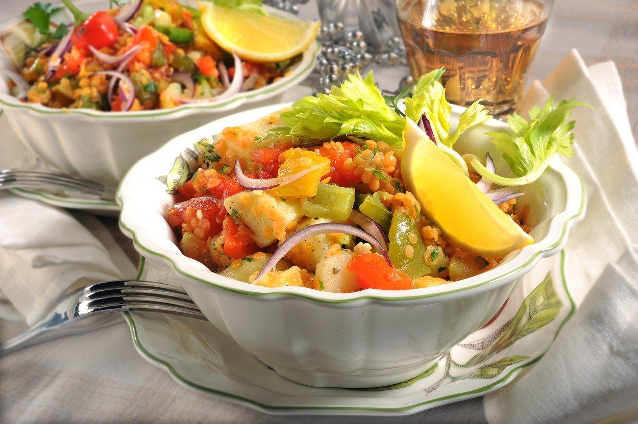 Lentil Salad with Potatoes