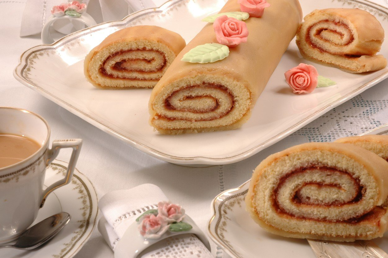 Sponge Roll in Marzipan Jacket