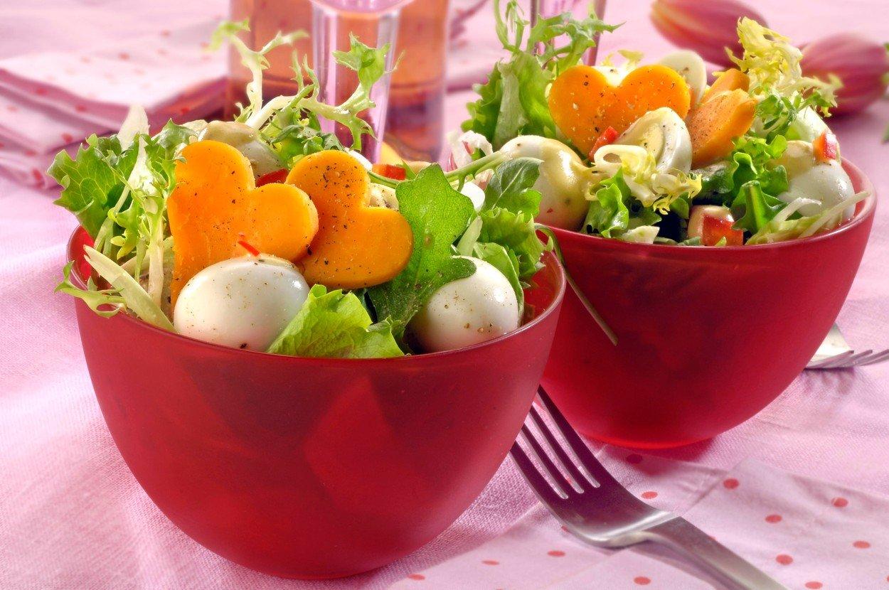Salad with Quail Eggs