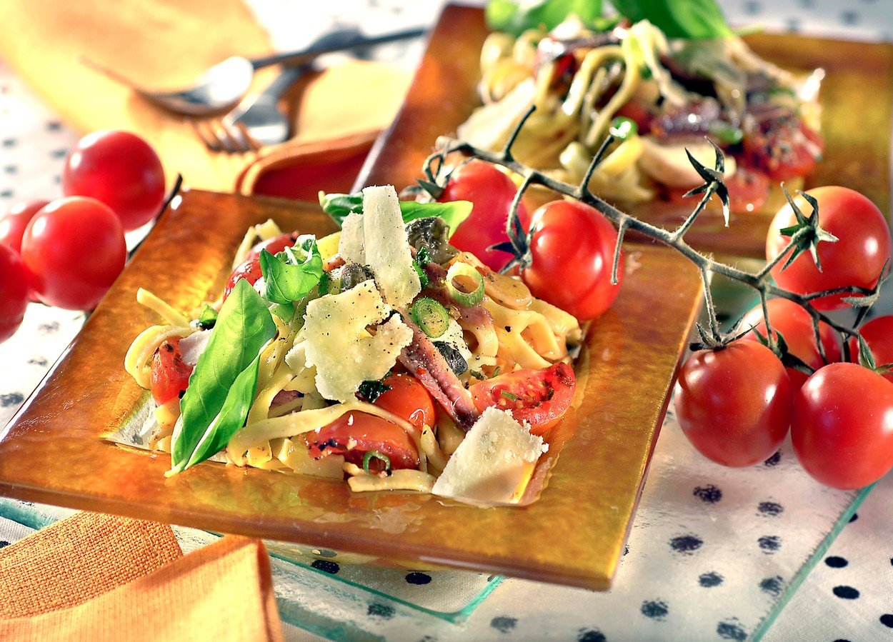 Pasta Salad with Anchovy