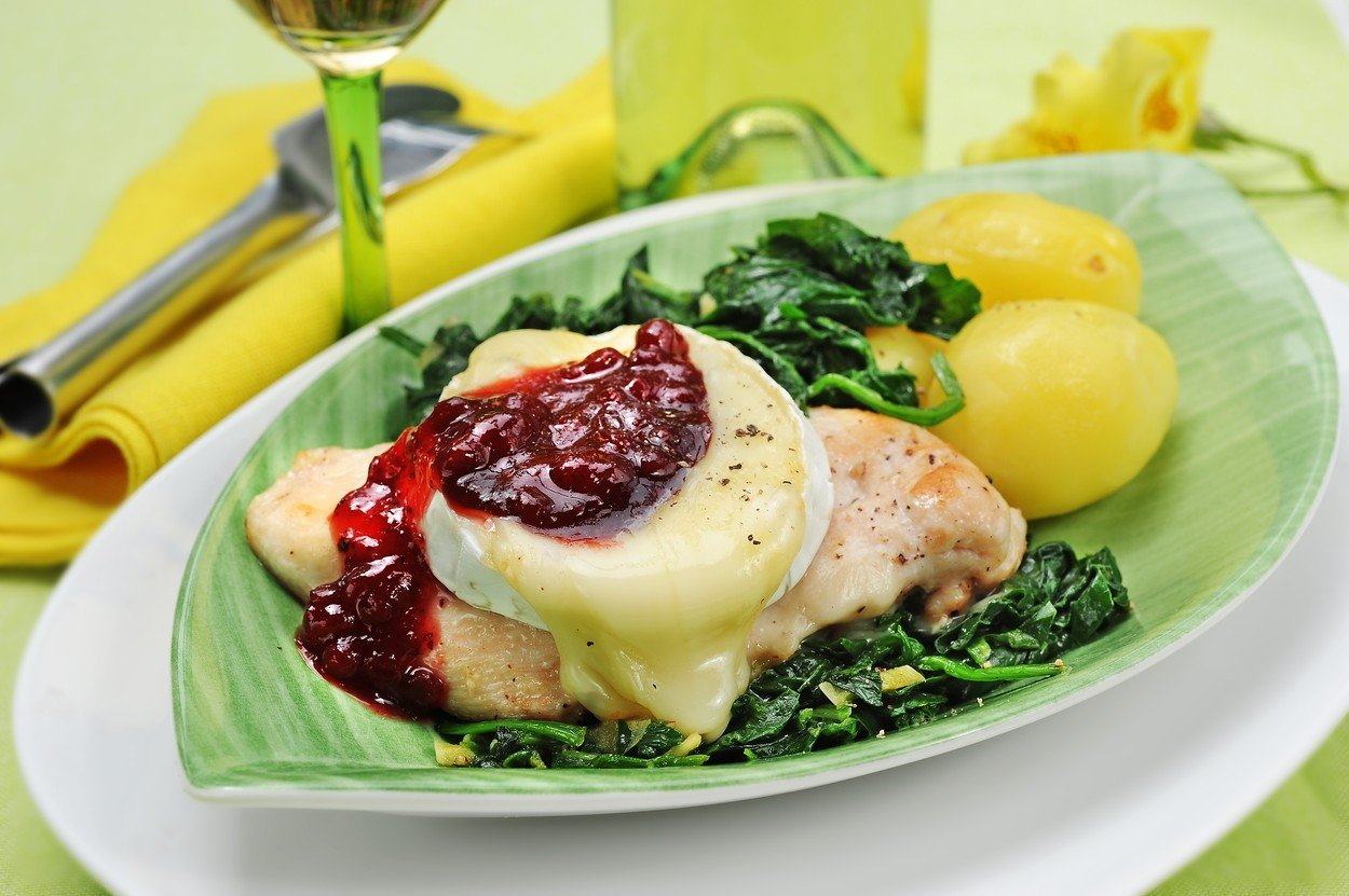 Chicken Breasts with Camembert and Cranberries