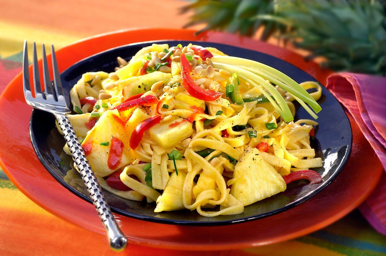 Pasta Salad with Fruit