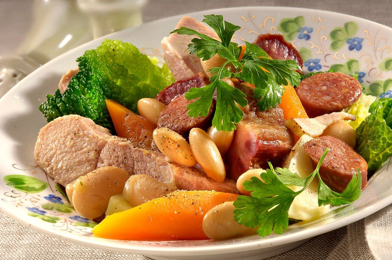 Boiled Pork with Sausage and Beans