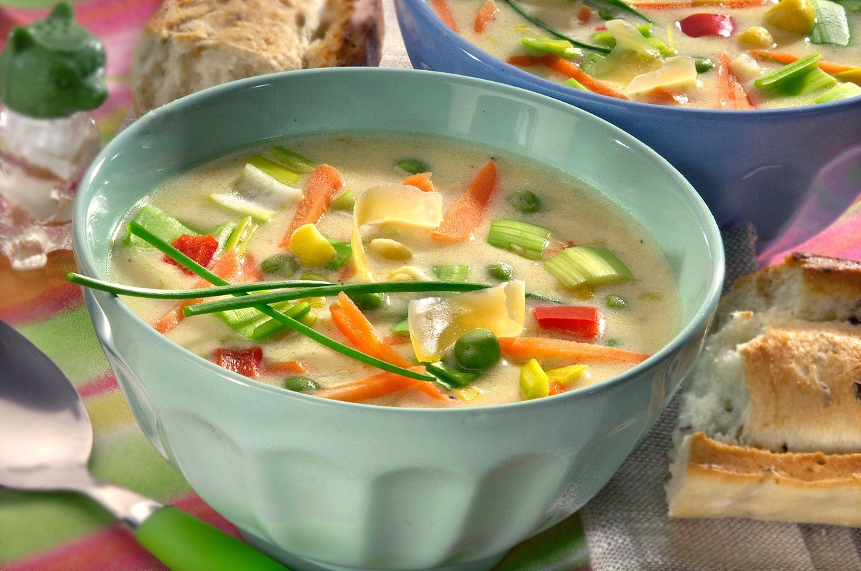 Cheese Soup with Vegetables