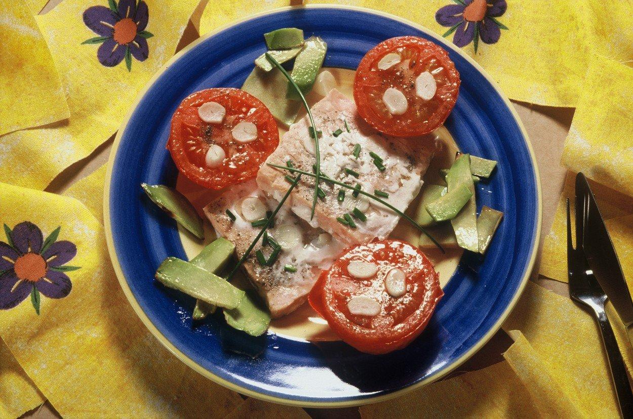Smoked Salmon on Garlic